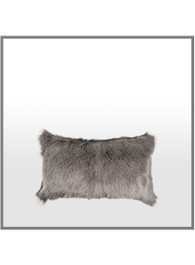 Goatskin Cushion in Charcoal
