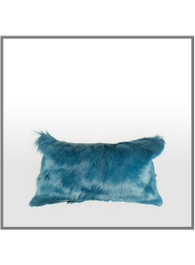 Goatskin Cushion in Dark Blue