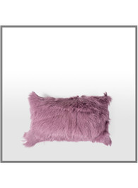 Goatskin Cushion in Mauve