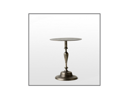 Pewter Aluminium Small Side Table