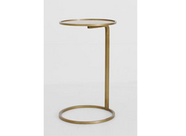 Couch Side Table in Brass