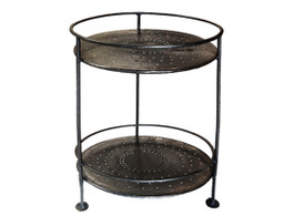 Iron 2 Tiered Round Table
