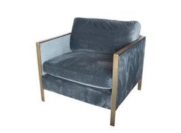 Knox Velvet Arm Chair in Petrol