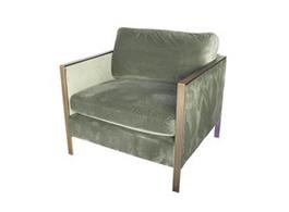 Knox Velvet Arm Chair in Pear