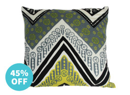 Trina Turk Tangier Cushion in Chartreuse