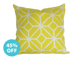 Trina Turk Trellis Cushion in Citron