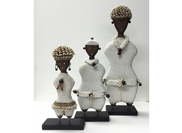Ndamji Beaded Doll in White