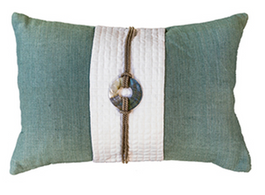 Sash Linen Cushion in Celadon