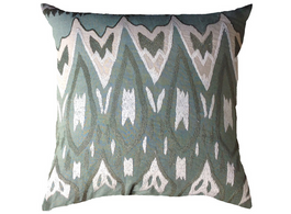 Tunis Ikat Cushion in Celadon