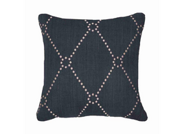 Diamond Dot Cushion in Navy