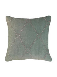 Diamond Dot Cushion in Celadon