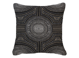 Aboriginal Dot Cushion in Black