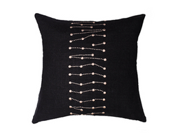 Dots Embroider Cushion in Black