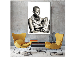 Tribal Mother with Child Wall Art