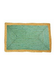 Jute Rug in Phoenix Sea Green