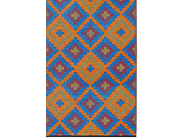 Saman Blue and Orange Rug