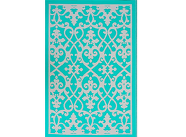 Venice Turquoise and Cream Rug