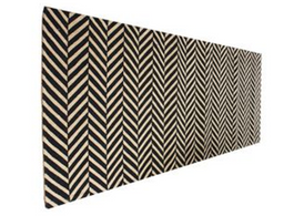 Herringbone Rug in Black