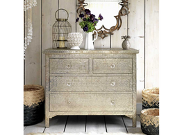 Casa Pressed Metal 4 Drawer Chest