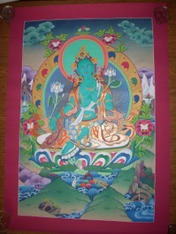Green Tara Traditional Handpainting