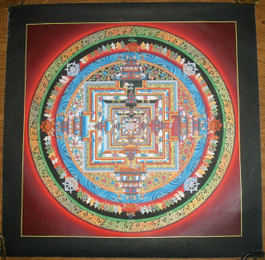Kalachakra Mandala in Red
