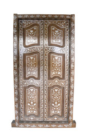Mother of Pearl Inlay Teak Doors