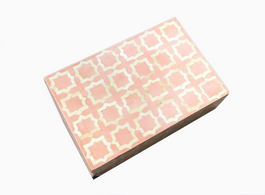 Nagah Bone Inlay Box in Coral