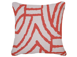 Earth File Print Lounge Cushion in Rust