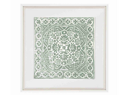 Kilim Print Artwork in Celadon