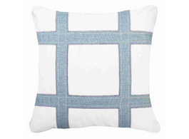 Outdoor Grid Lounge Cushion in Cloud