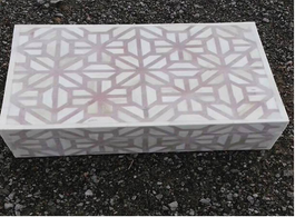 Bone Inlay Meera Box in Soft Grey