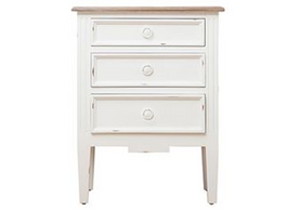 Hampton Bedside in White