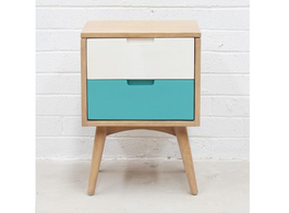 Kiruna 2 Drawer Bedside Table