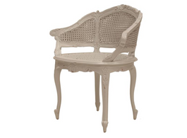 Marcella Bergere Chair  in Weathered Oak