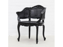Marcella Bergere Chair in Black
