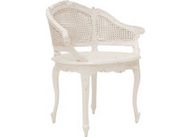 Marcella Bergere Chair in White