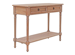 Marseille Console in Weathered Oak