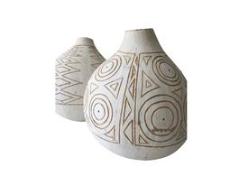 Masai Gourd in White