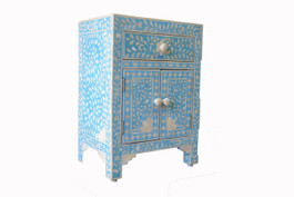 Sapphire & Bone Inlay Bedside Cabinet Warehouse Sale #3
