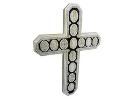Bone Inlay Carved Cross Design #2