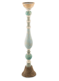 Cottesloe Washed Mango Wood Pillar Candle Holder Large