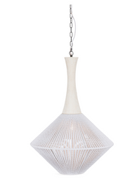 Rope Wood and Metal Nest Rope Pendant Light Large