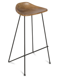 Archie Leather Bar Stool 65cm - Tan