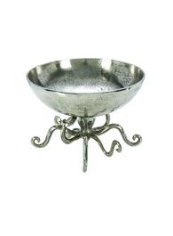 Antique Aluminium Octopus Bowl