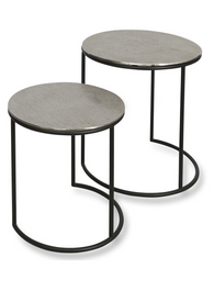 Bromley Aluminium Set of Two Round Nesting Tables