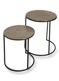 Charlton Aluminium Set of Two Round Nesting Tables