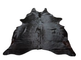 Natural Black Cow Hide Rug