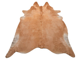 Solid Beige Cow Hide Rug