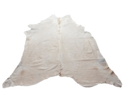 Natural Solid Cream Cow Hide Rug