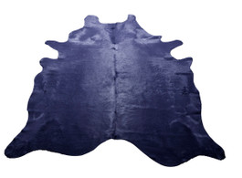 Navy Cow Hide Rug
